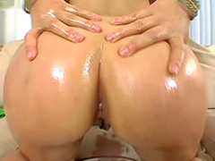 Smooth oiled up ass