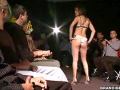 Slut fucked for an audience