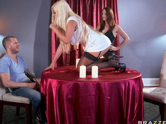 Stunning blonde Bridgette B and tasty dick of Scott Nails