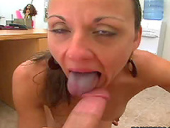 Slut fucked on desk