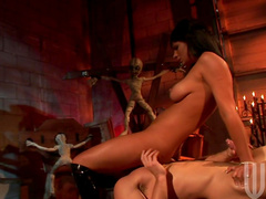 Kitty Bella being impaled with force in her pussy