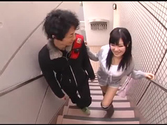 Japanese wife sits on dick