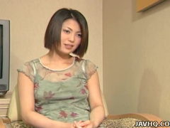 Cute Japanese babe Minayo Okamoto fucks in the office