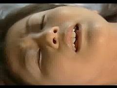 Pigtailed masturbating Japanese girl