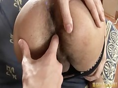 Hairy guys having analhole punished