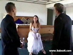 Bride hardcore threesome
