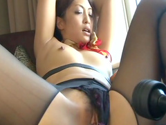 Slender Asian babe Aoi Miyama being impaled