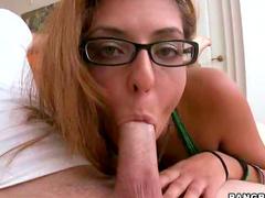 Slut in glasses humped