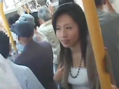 Japanese blowjob on a train