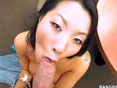 Asian cunt loves big dick
