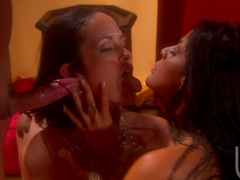 Carmella Bing and Mikayla Mendez are sharing one dick together