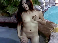 Alluring babe from Japan shows off her blowjob skills