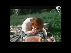 Marvelous outdoor blowjob from slut