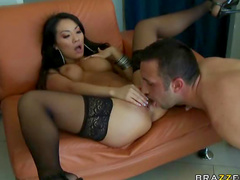 Asian with big cock inside