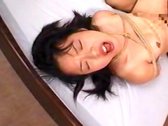 Tied Asian angel being raped so hard
