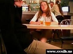 Fucked in a public bar