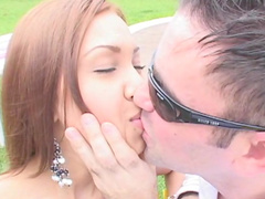 Tania Spice is a cock-swallowing redhead