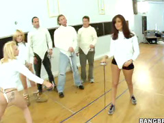 Group sex at fencing class
