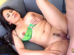 Nip sucking and curvy girl anal sex