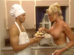 Chef pornstar fucked in kitchen