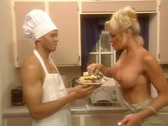 Chef pornstar fucked in kitchen