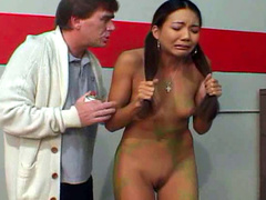 Alluring beauty with pigtails is getting tasty american dick in her holes