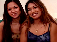 Sweet Asian beauties are sharing nice facial load