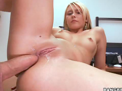 Big dick butt sex blonde