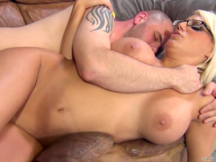 Blonde Jacky Joy is fucking with hard force