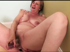 Mature makes it with toy