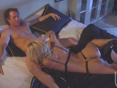 Sweet blonde Jessica Drake sucks nice dick