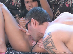 Stunning blowjob by Gigi Spice at the balcony