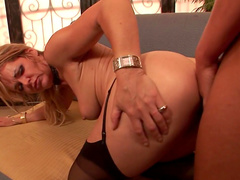 Hot pigtailed angel Kelly Leigh is a cock-sucking cheap girl