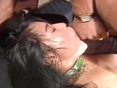 Perverted small Asian beauty is playing with that dick