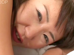Pigtailed queen Myu plays with her nice snatch