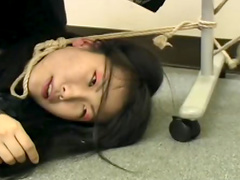Tight rope bondage on innocent Asian girl