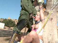 Heidi Mayne makes a hardcore outdoor blowjob