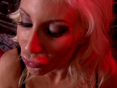 Puma Swede is getting sperm over her face