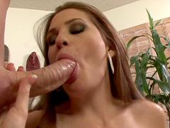 Allison Moore gives a deep sloppy blowjob