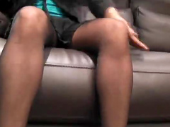 Upskirt with girl in pantyhose