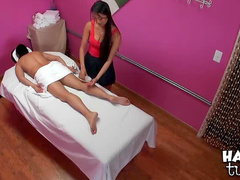 Good massage turns to hot fucking