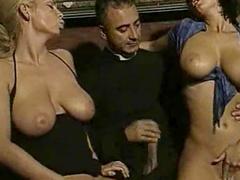 Big meat fucks a nun
