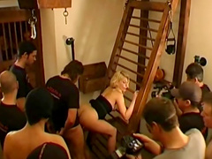 Blowjob and bukkake compilation with group sex