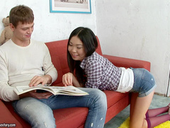 Young and shy Yiki is here to have anal game