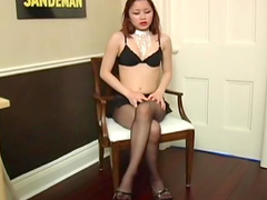 Sweet asian is poking nasty pussy of her girlfriend