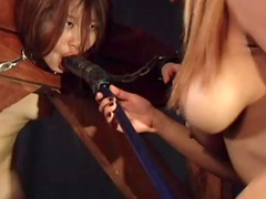 Heavy bondage for Asian submissive