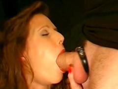 Viktoria shows off her cum-swallowing skills