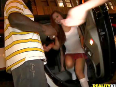 Schoolgirl party at club with fucking