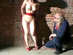 Young Asian girl in sexy rope bondage