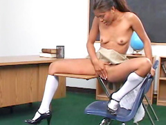 Asian teen schoolgirl masturbation video